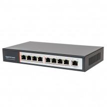 Гигабитный 9-портовый POE коммутатор Tecsar TS-81-GB