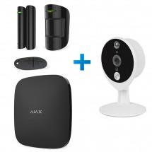 Комплект сигнализации Ajax StarterKit черный + IP-видеокамера Tecsar Airy TA-1