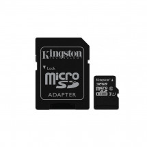Карта памяти Kingston MicroSDHC/MicroSDXC 32GB Class 10 UHS-I + SD адаптер (SDC10G2/32GB)