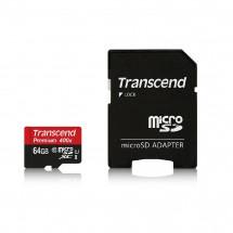 Карта памяти Transcend microSDXC 64GB Class 10 UHS-I Premium (TS64GUSDU1) + SD-adapter