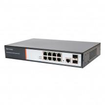 Гигабитный 10-портовый POE коммутатор Tecsar TS-82sfp-GB